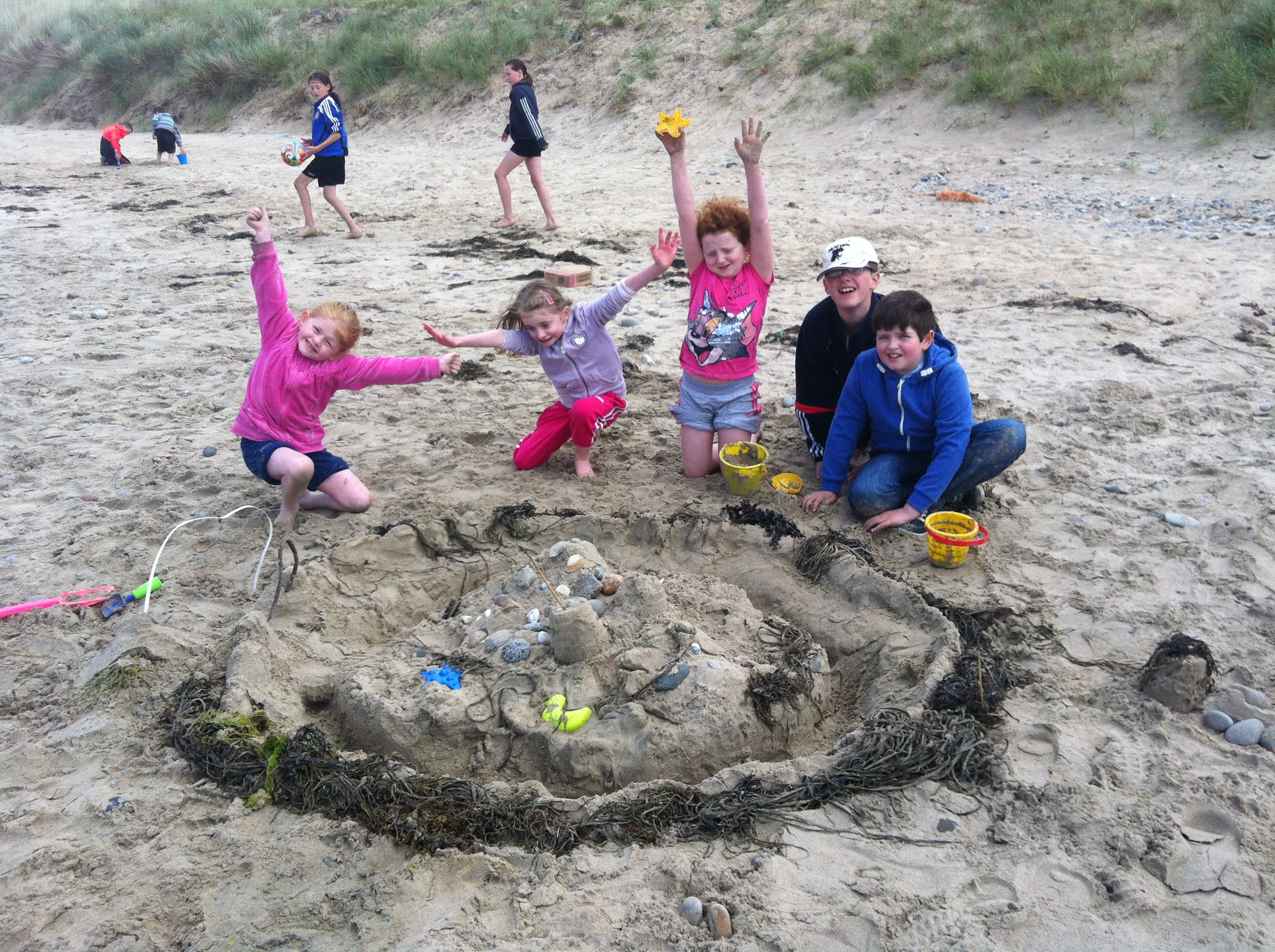 Sandcastles at The White Shore